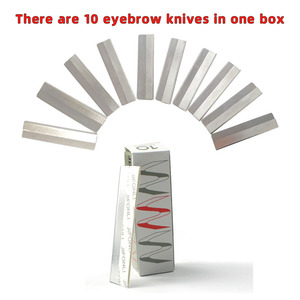 10Pcs/ Stainless Steel Eyebrow