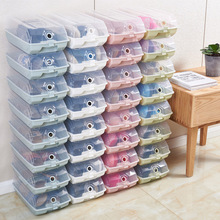 Transparent storage shoe box plastic simple drawer boxes household dustproof thick clamshell home