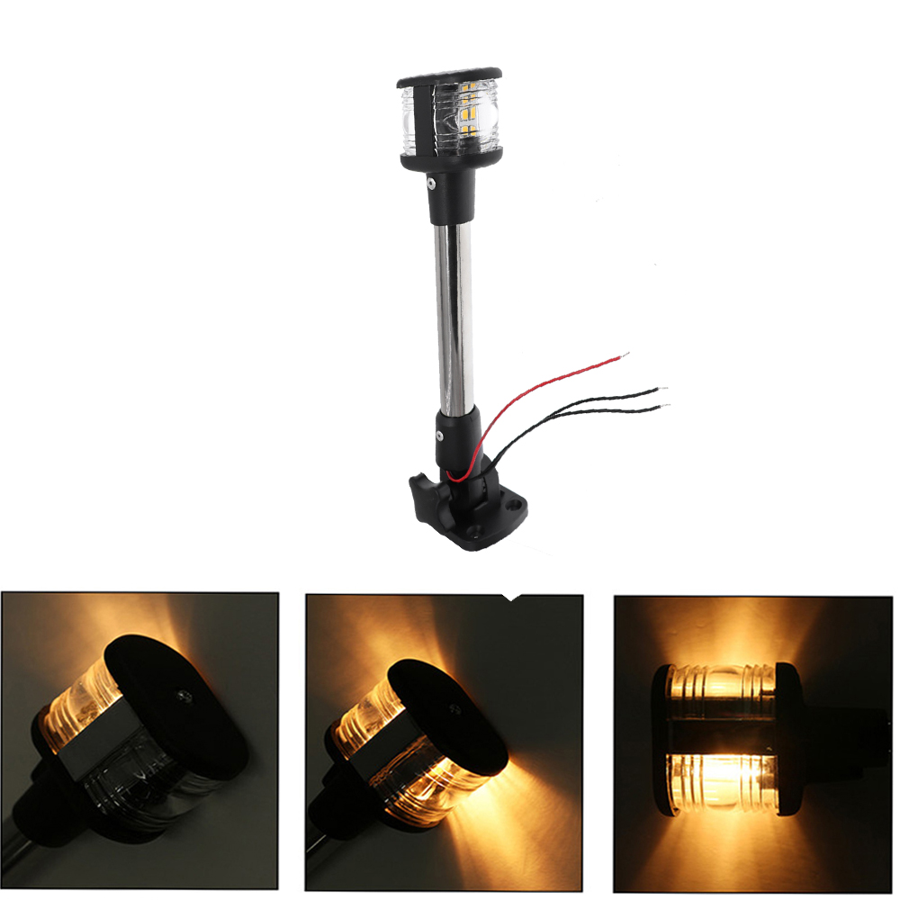 Waterproof LED Navigation Light 360 Degree Marine Boat Stern Anchor Light 12V with 4500K Lamp for Boat Accessories(China)