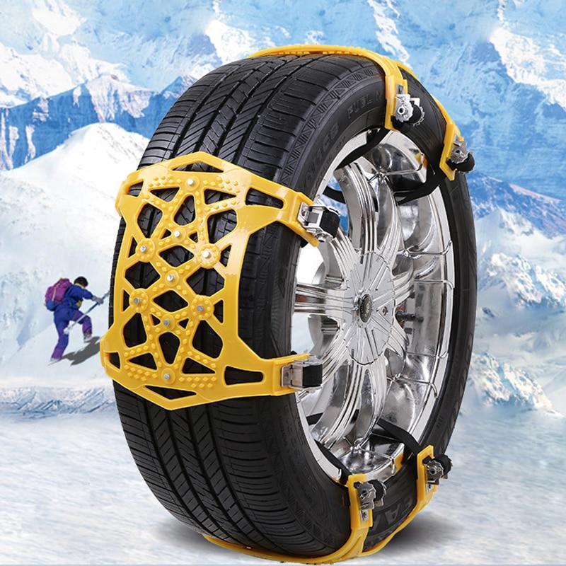 Yeni evrensel araçlar kış kamyon araba kar genişletilmiş lastik zinciri Anti-skid kemer lastik zinciri oto araba aksesuarları sigara kaymaz