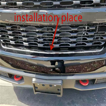 WELKINRY For Chevrolet Silverado RST Z71 2019 2020 stainless steel front car head bumper air intake vent airscoop grille trim