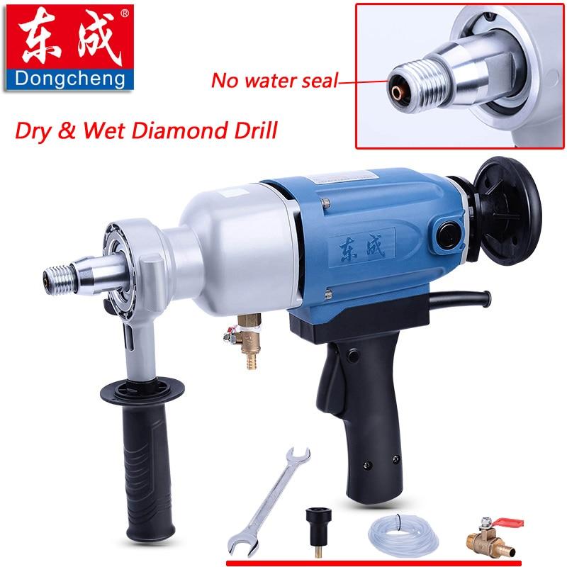 2019 Új 1800W-os száraz és nedves gyémánt fúró vízforrással (kézi), max. 110 mm-es betonfalú elektromos fúró (vízmentes tömítés nélkül)