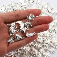 Пластиковые бусины CCB смешанной формы, посеребренные бусины-шармы для изготовления ювелирных изделий «сделай сам», аксессуары для ожерелья...