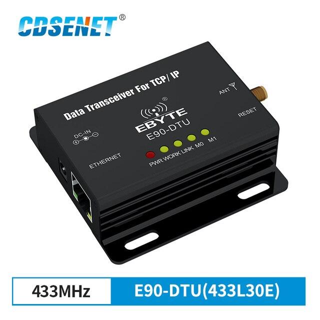 Ethernet LoRa 433 MHz 30dBm 1W Lange Range Wireless Transceiver E90 DTU 433L30E IoT PLC 8000m Abstand 433 MHz RJ45 rf Modul