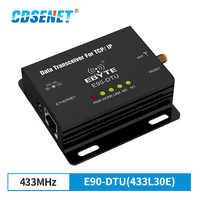 Ethernet LoRa 433 MHz 30dBm 1W Lange Range Wireless Transceiver E90-DTU-433L30E IoT PLC 8000m Abstand 433 MHz RJ45 rf Modul