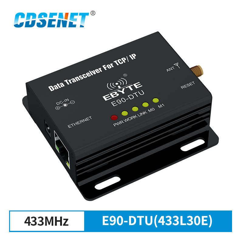 Ethernet LoRa 433MHz 30dBm 1W Long Range Wireless Transceiver E90 DTU 433L30E IoT PLC 8000m Distance 433 MHz RJ45 rf Module-in Fixed Wireless Terminals from Cellphones & Telecommunications