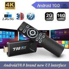 Mini TV Stick 4K RK3318 H.265 Media Player 3D Video 2,4G 5G WIFI Bluetooth Smart TVBox Set top TV box android 10 youtube Netfli