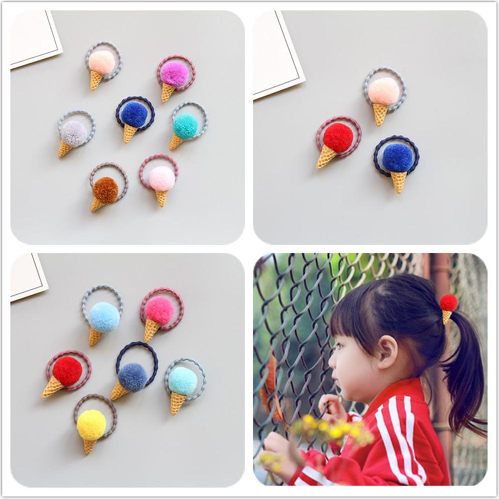 Ice Cream Candy ColorsBaby Headbands For Girls Venonat Fluffy Handmade Chinese Knot Baby Hairband Hair Accessories Newborn
