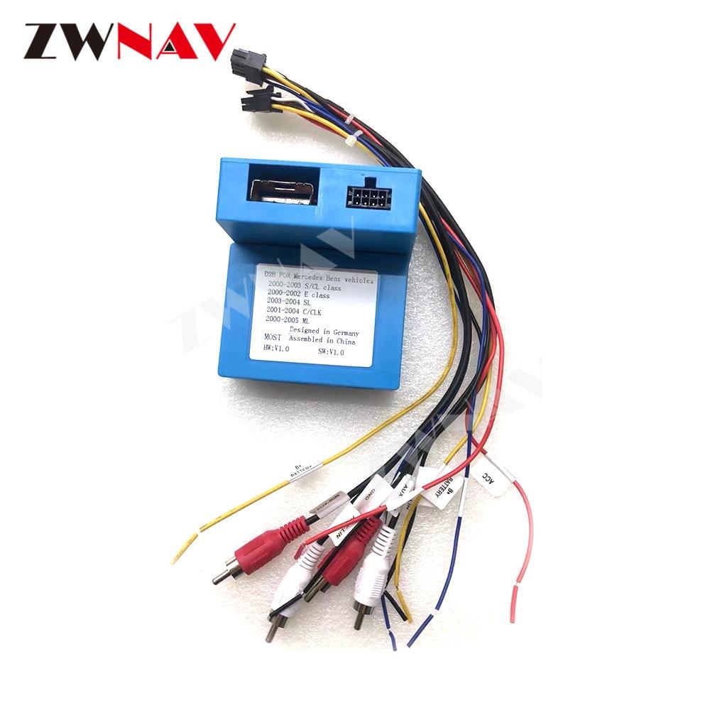 D2B Adapter Digital Data Bus Fiber Car Radio Optic Decoder Fiber Optic Adapter For Mercedes Benz Vehicles ML/ E/S CL/ C CLK / SL