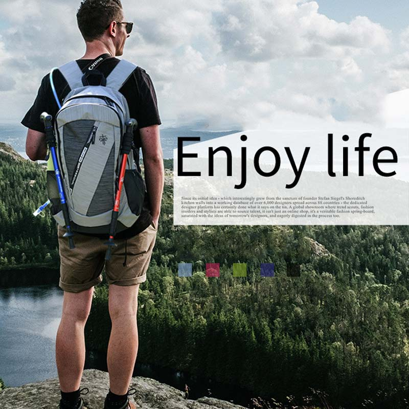 40L Camping Backpack Travel Bag For Men Women Shoulder Rusksack Outdoor Trekking Bags Waterproof Nylon Bag Hiking School XA125+A