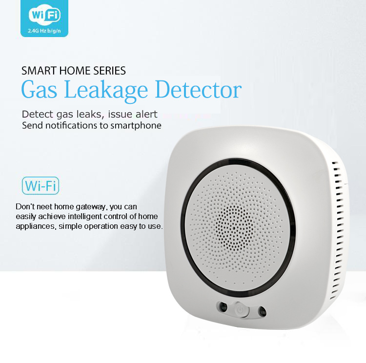 Battery Powered Home Alarm Security Smart Life WiFi Wilreless Standalone Alexa Google Compatible Tuya Gas Leak Detector Sensor