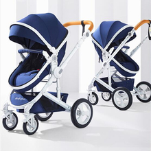 Adjustable Luxury Baby Stroller 3 in 1 Portable High Landscape Reversible Stroller Hot Mom Pink Stroller Travel Pram Pushchair