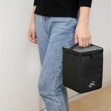 Botai натуральный продукт изолированный Ланч-бокс мешок квадратная колонна-образный Оксфорд ткань Bento коробка сумка портативный ручной квадратный слинг мешок Squ