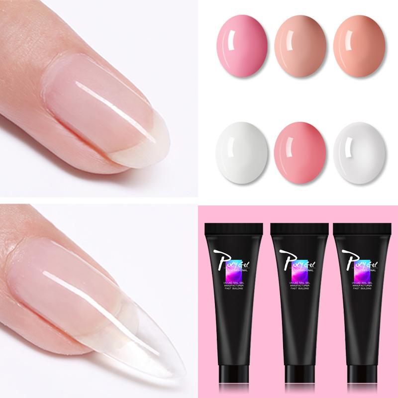 Sarness Polygel Quick Building Poly Gel Crystal Jelly Gel Acrylic Soak Off Nails Extension Slip Solution Nail Art