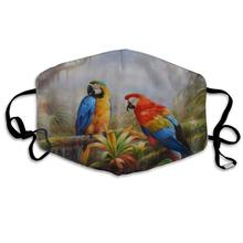 Mouth-Mask Jungle-Parrot Half-Face-Masks Washable Men for Daily Dress-Up Anti-Dust Holiday