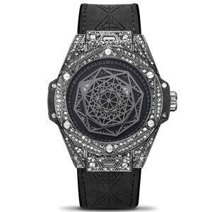 Image 2 - ICE OUT Bling เพชรนาฬิกาสำหรับผู้ชายผู้หญิง Hip Hop iced OUT นาฬิกา Men Quartz นาฬิกาสายสแตนเลสนาฬิกาข้อมือหนังผู้ชาย