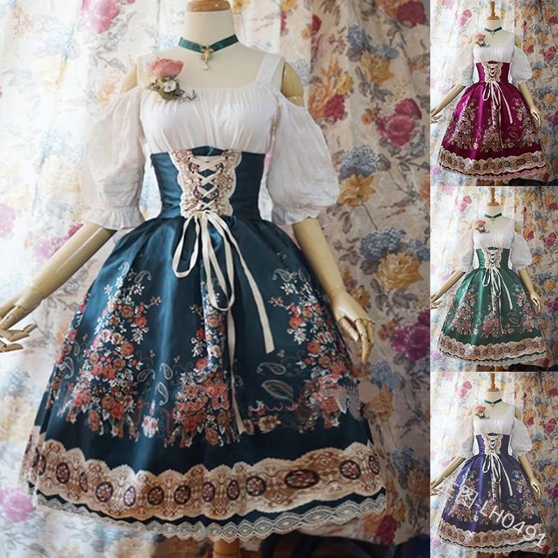 Hot Sweet Women Kawaii Lolita Princess Missy Dress Plus Size Gothic Loli Dress Costume Cute Anime Maid Dress For Girl 5XL