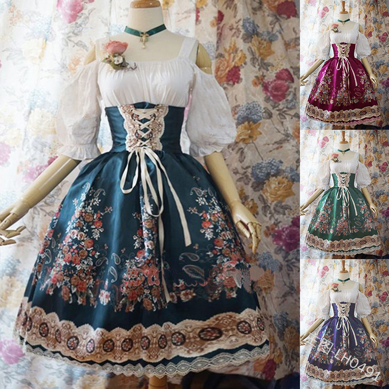 Women Kawaii Lolita Princess Missy Dress Plus Size Gothic Loli Dress Costume Cute Anime Maid Dress For Girl 5XL