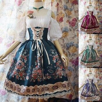 Women Kawaii Lolita Princess Missy Dress Plus Size Gothic Loli Dress Costume Cute Anime Maid Dress For Girl 5XL s 2xl blue women beer girl costume bavaria oktoberfest dress beer maid dirndl
