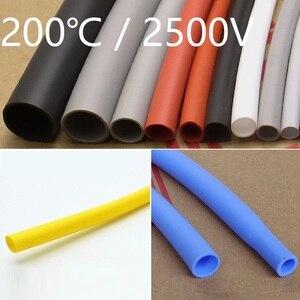 Średnica 0.8 1 1.5 2 2.5 3 3.5 4 5 6 7 8mm miękkiego silikonu rurka termokurczliwa rękaw kablowy termokurczliwy elastyczny przewód izolowany Wrap linia ochrony