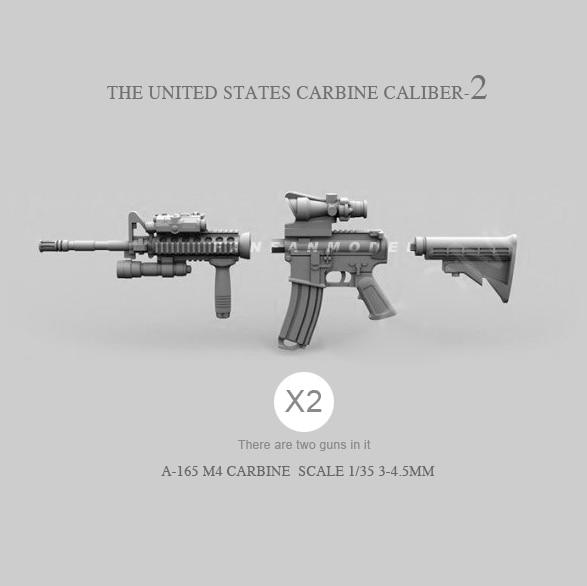 1/35 Resin Soldier Model Accessories  US M4 (2pcs 2-3CM)  A-165