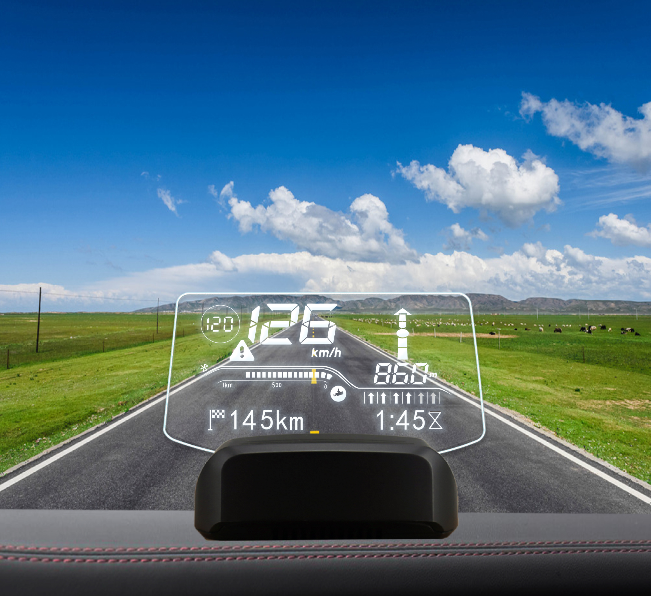 AUTOOL X500 ניווט רב תפקודי חכם רכב HUD
