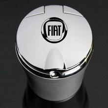 For Fiat Car Logo Ashtray Smoke Holder Aegea 500 Punto Stilo Bravo Ducato Linea Panda Uno Palio Tipo Doblo Car Accessories