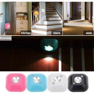Image 5 - Aimkeeg lampe murale à capteur de mouvement à infrarouge PIR à LED, alimentée par batterie, éclairage de nuit pour un placard, escalier