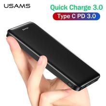 Powerbank PD QC3.0 USAMS Power Bank for iPhone Xiaomi Quick