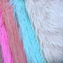 Искусственный мех падающая вода волосы прокатки плюшевая пляжная шерсть искусственные волосы Одежда Домашняя текстильная подушка диван ткань