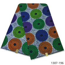 2019 African Wax Fabric 100% Polyester Floral Print For Women Dress Clothes Diy Sewing Materials 6 yards/piece 1307