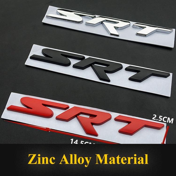 Red SRT Logo 3D Metal Car Auto SUV Body Fender Emblem Badge Decal Sticker