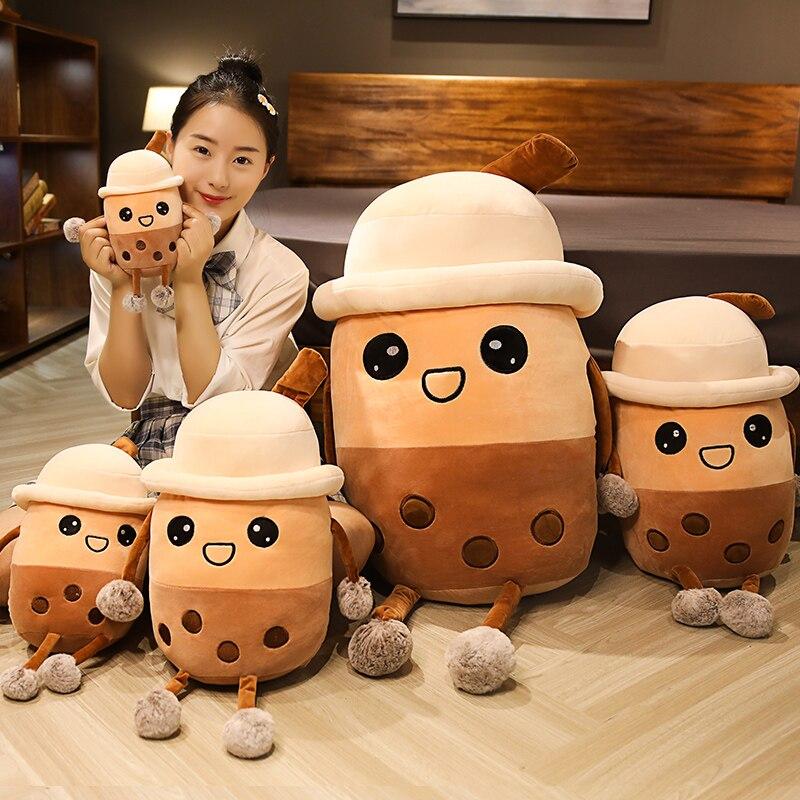 High Quality 25cm Funny Doll Stuffed Lovely Simulation Milk Tea Soft plush Toy Birthday Christmas Gift Baby Kids Girl Toys
