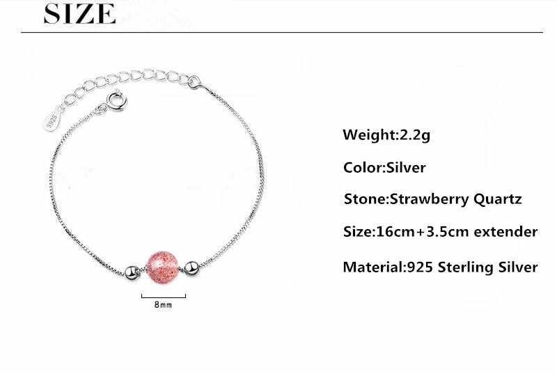 100% 925 スターリングシルバーシンプルなワンピンククリスタルボール女性ブレスレットジュエリーの女性の卸売ギフトショートチョーカーチャームなしフェード
