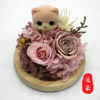 Eternal Glass Finished Cute meng wu Bear Duckling Penguin Rabbit Glass Gift Wholesale