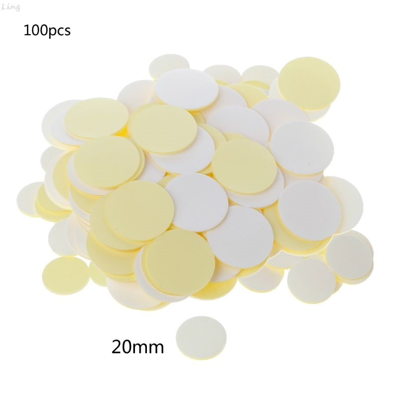 100Pcs Clear Invisible Round Double Sided Silicone Self Adhesive Dots Stickers L29K