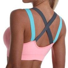 Spor sutyen kadınlar için Gym dikişsiz yüksek darbe spor sutyen Yoga spor üst kadın iç çamaşırı Push-up sütyen spor bralette