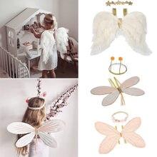 Enkelibb Mooie Kids Meisjes Party Wear Angel Wing Accessoires Baby Meisje Mooie Fotografie Props Kerst Halloween Props