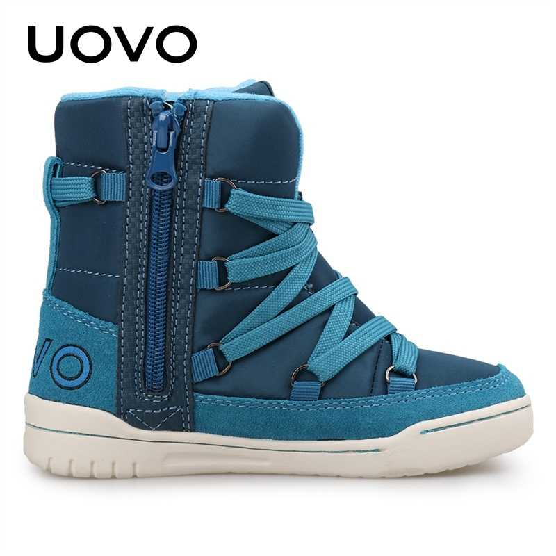 UOVO Merk 2019 Kinderen Winter Schoenen Mode Kinderen Casual Sport Schoenen Voor Jongens En Meisjes High-Top Kids Sneakers maat 28 #-39 #
