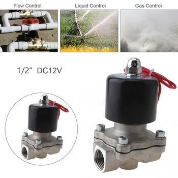 1/2 1/4'' Electric Solenoid Valve DC 12/24V Normally Closed Type Valve Stainless Steel Solenoid Valve for Water / Oil / Gas 1 piece feeder solenoid valve for heidelberg cd102 sm102 cd74 printing press machine 92 184 1001 valve