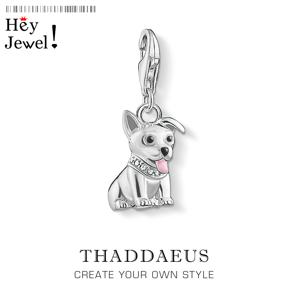 Corgi Dog Puppy Charm Pendant Fit Bracelet 2020 Spring Cute 925 Sterling Silver Playful Favourite Pet Gift For Women Men Jewelry