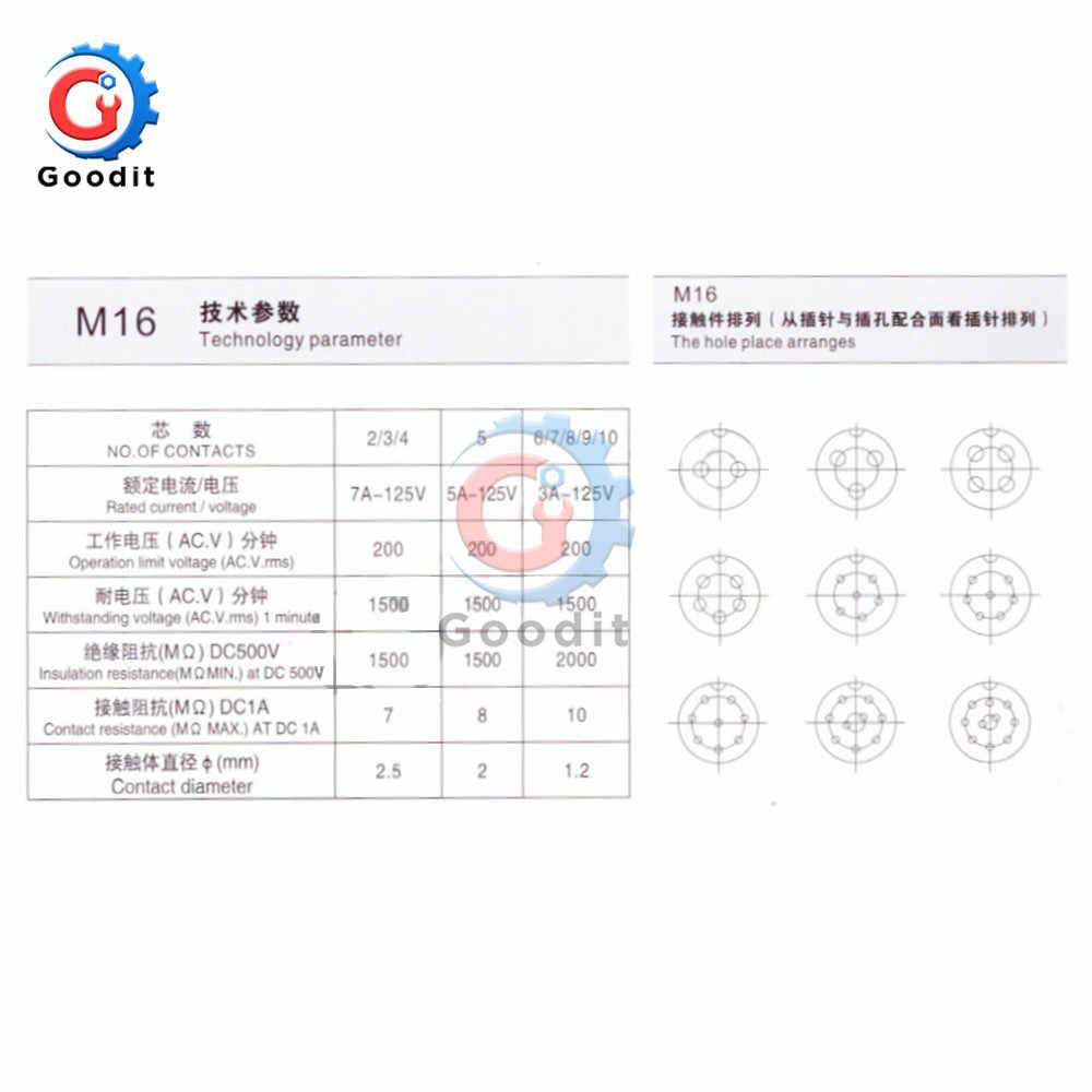 1 Juego de tapa de conector de aviación GX16 2/3/4/5/6/7/8/9/10 Pin macho y hembra de 16mm L70-78, conector de cable, tapa de conector Circular