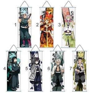 Japanese Anime Demon Slayer Paintings Fabric Cloth Poster Wall Scroll Blade Of Demon Destruction Slayer(China)