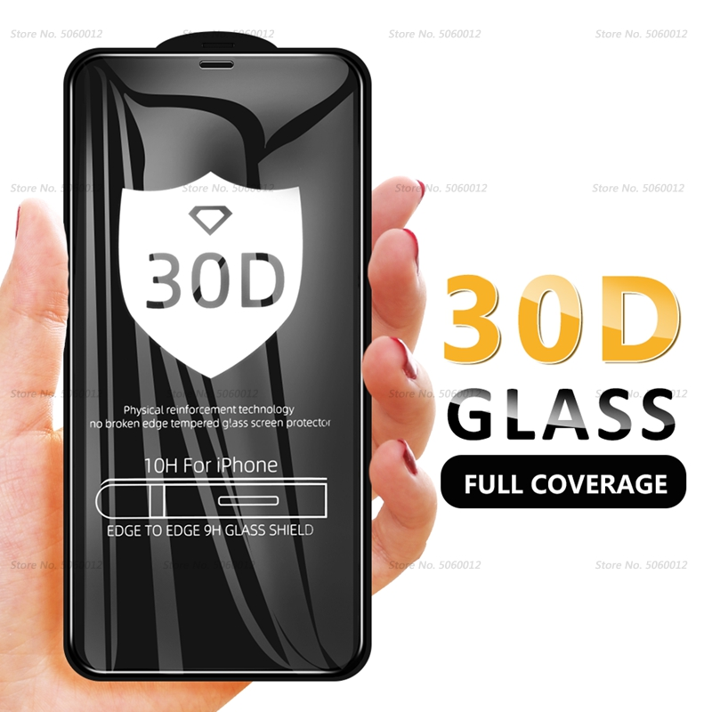 30D Curved Edge Protective Glass On The For IPhone 7 8 6 6s Plus Tempered Screen Protector For IPhone 11 Pro X XR XS Max Glass