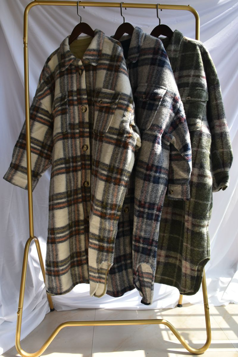 2019 Autumn / Winter Coats & Jackets Large Shape Brushed Pocket Wool Women's Wool & Blends