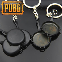 Game PUBG Frying Pan Playerunknown's Battlegrounds Cosplay Props Alloy Armor Model Key Chain Keychain