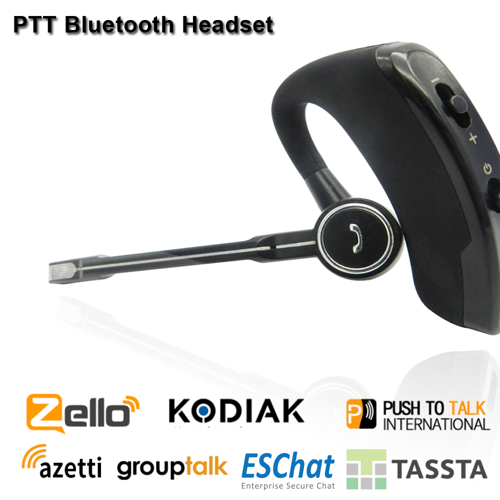 Wireless Walkie Talkie Bluetooth Headset PTT  Earpiece Buletooth PTT Microphone  Zello PTT Bluetooth Handsfree For Android