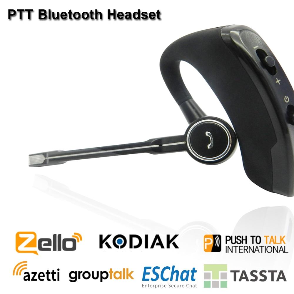 Wireless Walkie Talkie Bluetooth Headset PTT  Earpiece Buletooth PTT Microphone  Zello PTT Bluetooth Handsfree For Android