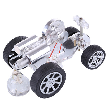 1pcs Tank Type Stirling External Gas Turbine Engine Model Stirling Physical Experiment Engine With Advanced Rubber Wheel New