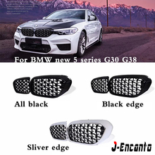 A Pair For BMW 5 Series G30 G38 Car Front Grill Newest Diamond Style 2018-2019 5 Series G30 G38  Front Kidney Grille 1 pc g38 rd g38 rd